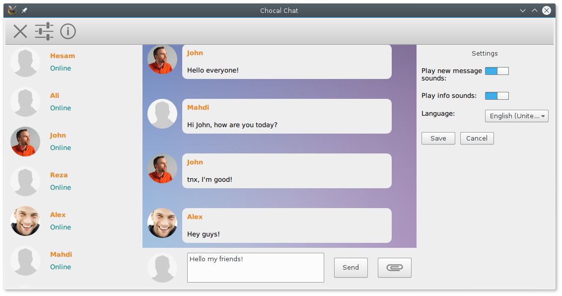 Chocal Chat desktop application